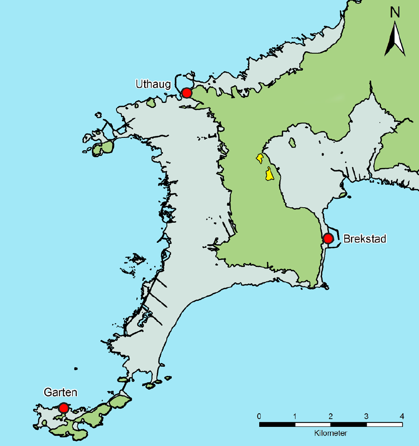 The Peninsula At The Mouth Of Trondheim Fjord That Shows The Location Of The Dig