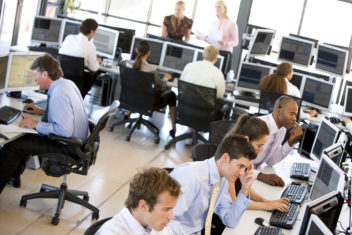 We are surrounded by sounds, noise and impressions from our surroundings for a good part of the day. More and more people are taking yoga and mindfulness classes to find peace, and many people who sit in open office layouts dream of cubicles. Photo: Thinkstock