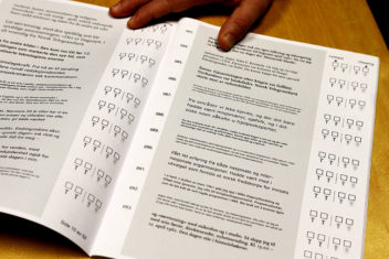 Study results show that type size matters the most for readability, but the font choice is less important. Photo: Marte Foss / NTNU