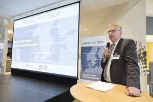 Trondheim 08.06.2016 : The leading technical universities in the Nordic countries (Aalto, Chalmers, DTU, KTH and NTNU) celebrate their 10th anniversary of collaboration with a high level summit. Innovating through Multi-Partner Collaboration (NTNU), Tor Ulleberg, Chief of Innovation, Research and Technology, Statoil ASA. Photo: Thor Nielsen