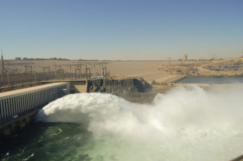The Aswan High Dam in Egypt has been credited with helping the country feed its 80 million inhabitants. Photo: Thinkstock
