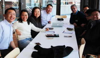 Researchers from Singapore and SINTEF met in Trondheim, before touring Western Norway. Photo: Ingvil Snøfugl.