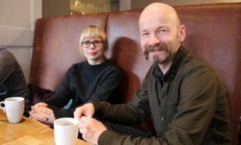 Ida Marie Henriksen and Aksel Tjora study the sociology of cafe guests. Photo: Steinar Brandslet, NTNU
