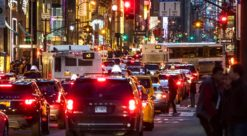 Traffic jam on Fifth avenue in New York City