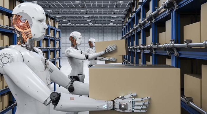 Robots with boxes